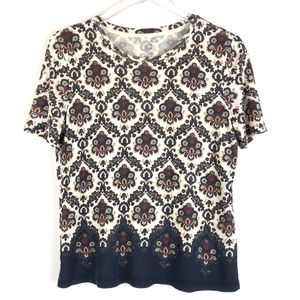 Tory Burch Short sleeves printed shirt size S